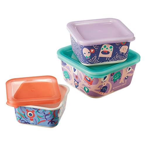 Tommee Tippee 423576 Stapelbare Bambus-Snackboxen im 3er-Set, mehrfarbig, 350 g