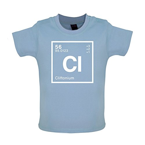 CLIFTON - Periodic Element - Baby / Toddler T-Shirt - Dusty Blue - 12-18 Months