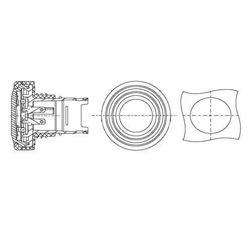 HELLA 2BM 340 825-211 Feu clignotant supplémentaire - 12V - Couleur du voyant: jaune - Câble: 100mm - Fiche: AMP