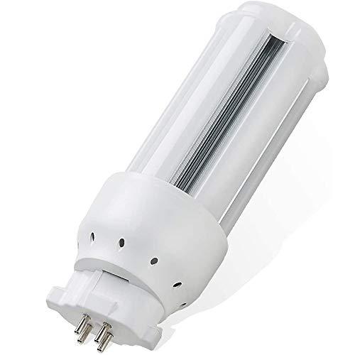 FDL27EX-L LEDコンパクト蛍光灯 コーン型LEDライト 屋内屋外 工場 天井照明 超高輝度 全光束 乳白色カバー エコ照明 簡単取付 工事が必要 (FDL27 昼白色 5000K 12W)