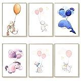 lulupila Bilder Kinderzimmer Deko Poster Babyzimmer Wohnzimmer A4 Kinderposter Kinderbilder Tiere...