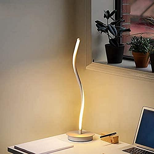 SpiceRack Accesorios para lámpara de Mesa, lámpara de Mesa LED en Espiral, lámpara de mesita de Noche LED Curvada Minimalista contemporánea Moderna para Sala de Estar del Dormitorio, Control