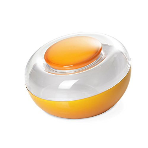Omada Design Biscottiera, in Plastica Bicolore, capacità 270 cl, con Coperchio Ermetico Salvafreschezza, interno visibile, linea Movida