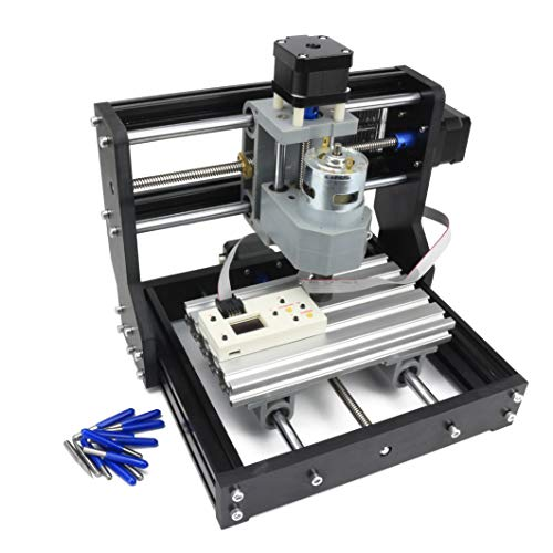 3 Axis GRBL Control DIY Mini CNC 1610 PRO CNC Carving Milling Engraving Machine + ER11 Collet + CNC Offline Controller Working Area 180x100x45mm for Plastic, Wood, Acrylic, PVC, PCB, Wood