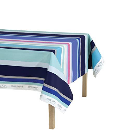 Bassetti Tischdecke 140 x 180 cm aus reiner Baumwolle Pantone Universe - ohne Servietten (Pop Stripe)