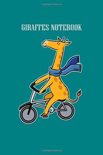 GIRAFFES NOTEBOOK: giraffe long necked animal bike tour children gift - 50 sheets, 100 pages - 6 x 9 inches