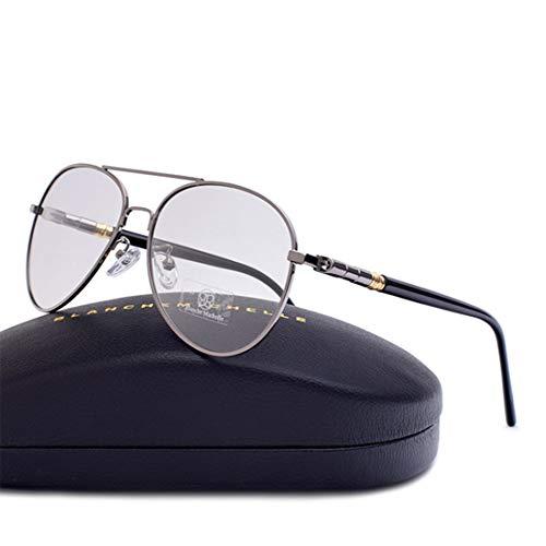 BLANCHE MICHELLE Sonnenbrille Pilot polarisiert Damen Herren Unisex BM209 silber/grau