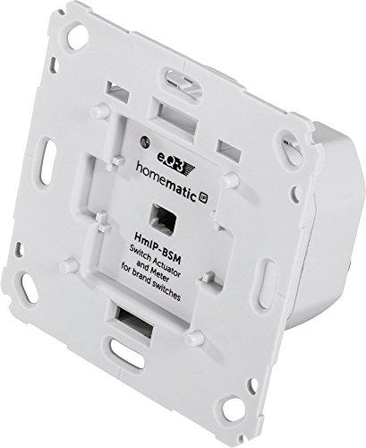 Homematic IP Smart Home Schalt-Mess-Aktor für Markenschalter, schaltet Geräte auch per App oder per Sprachbefehl über Amazon Alexa, 142720A0