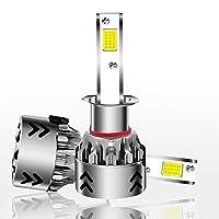Zz Headlight Bulbs 2PCS H1 27W 3000LM 6000KピュアホワイトCOBチップLEDヘッドライト球根の変換キット、DC 9-36V。