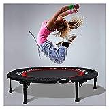 LZZJ Rond 40 Pouces Mini Trampoline Pliante Enfants Adultes Saut d'entraînement pédétrage pédétrage intérieur Maison Gym équipement de Fitness