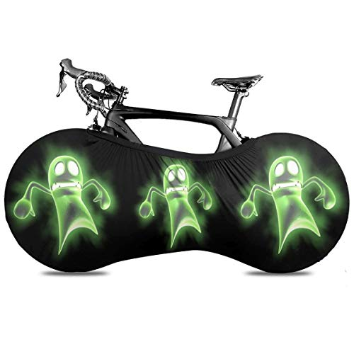 BYTKMRY Stunned Ghost Bicycle Wheel Cover, Anti-Dust Bike Indoor Storage Bag Scratch-Proof Washable High Elastic Tire Package Fit All Bicycles Protective Gear Garage