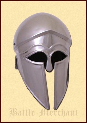 Battle-Merchant Italo Korintherhelm, Stahl, mit Lederinlay - Griechen - Gladiator Helm