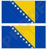 Bosnien & Herzegowina Flagge 109,2cm 110) Bumper Sticker, Aufkleber Vinyl X2