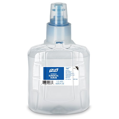 PURELL Waterless Surgical Scrub, 1200 mL Scrub Refill for PURELL LTX-12 Touch-Free Dispenser (Pack of 2) - 1907-02