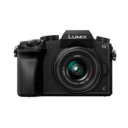 Panasonic Lumix DMC-G7KEF + H-FS1442A MILC 16 MP Live Mos 4592 x 3448 Pixeles Negro - Cámara Digital (16 MP, 4592 x 3448 Pixeles, Live Mos, 4K Ultra HD, Pantalla táctil, Negro)