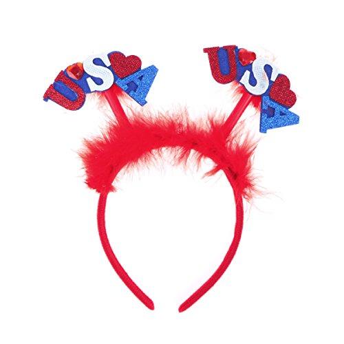 LUOEM USA Patriotische Haarband Kinder Stirnband Kopfschmuck Unabhängigkeitstag Haarschmuck
