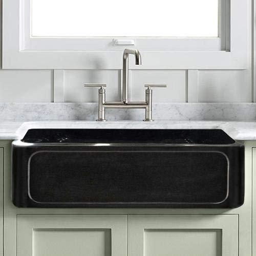 Find Bargain Magnus Home Products 30 Kitchen Sink Marietta Smooth Polished Black Granite Single-Bow...