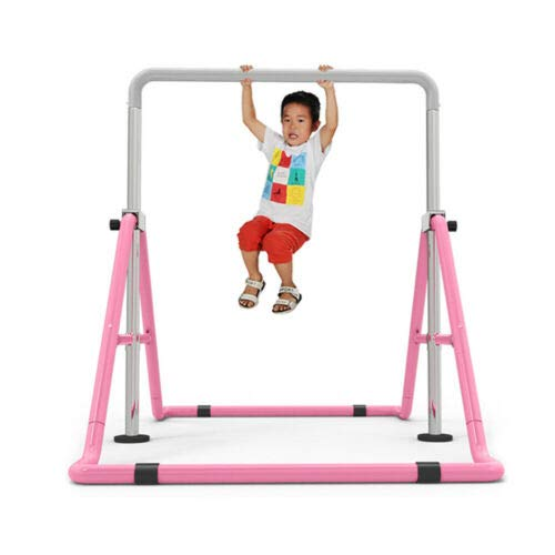 Futchoy Gimnasia barras horizontales expandibles plegable gimnasia horizontal junior bar de entrenamiento altura ajustable torre de escalada hogar niños niños niños niños
