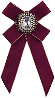 CBCJU Broche de Mujer Retro Pajarita Tela Broche Cofre Cardigan Accesorios 10 * 7cm