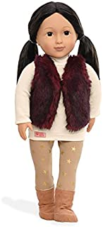 Our Generation Tamaya-Doll (N) with Red Fur Vest 18