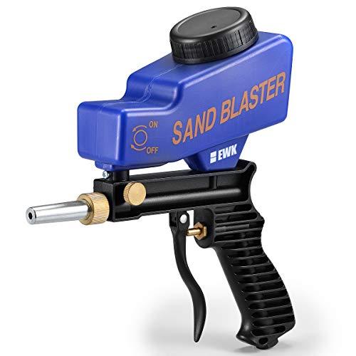 EWK Sandblaster Gravity Feed Sandblaster Gun Air Sand Blaster Gun Kit Soda Blaster Media Blaster Gun Kit