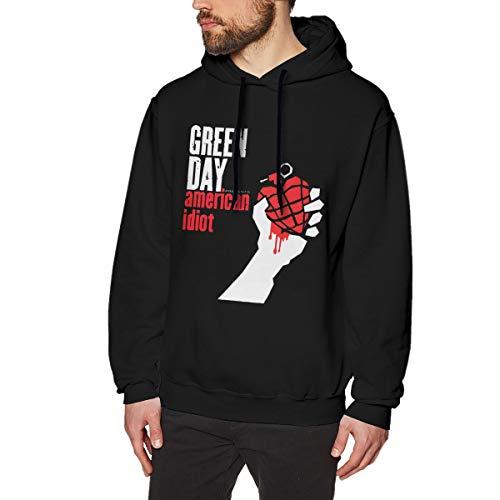EUlemon Green Day Rock Music Band Herren Hoodie Sweatshirt Classic Black S Mode Bequem Kapuzenpullover