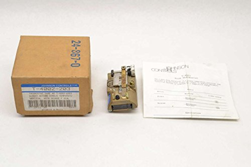 Johnson Controls T-4002-203 Single Temperature High Volume Output Thermostat, Direct Acting, Vertical Mounting