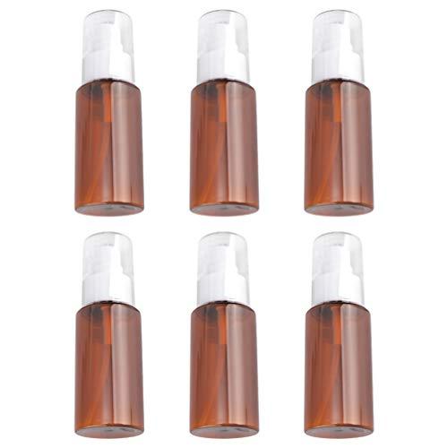 FRCOLOR 6Pcs 60Ml Botellas de Loción de Viaje Vacías Recargables sin Aire...