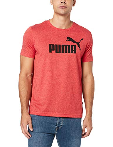 PUMA ESS Tee T-Shirt Homme, High Risk Red Heather, L