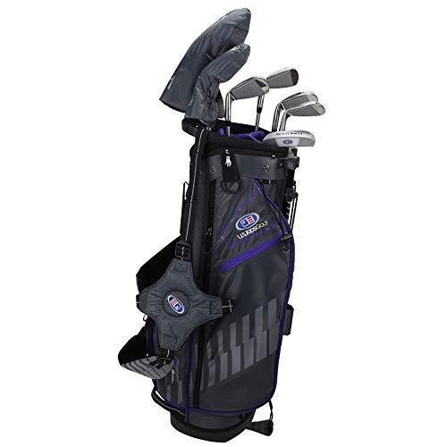 """U.S. Kids, set di mazze da golf Ultralight 2020, 100-168 cm, età 3-13 anni, 5 mazze, 137-145cm, lilla/grigio destro, 54"""""""