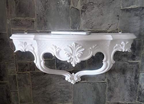 Artissimo Wandkonsole/Spiegelkonsolen/Wandregal BAROCK ANTIK Konsole Weiß 45cmx 21cm