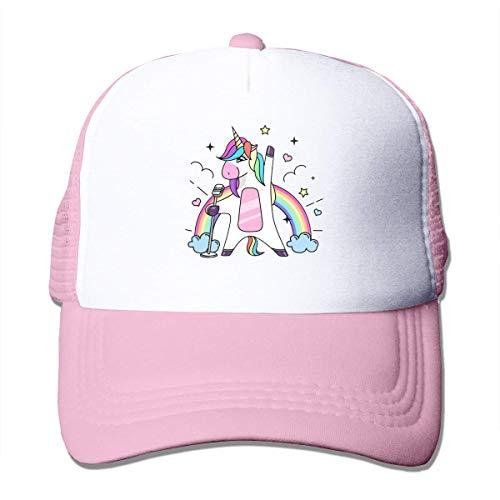 Fantasy Singing Animal Horse Unicorn Cool Baseball Hat Casual Mesh Cap Adjustable Trucker Cap