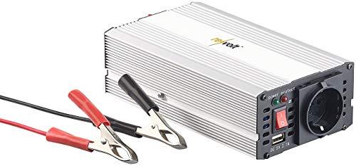 revolt Spannungsumwandler: Kfz-Sinus-Spannungswandler 12 Volt auf 230 Volt, USB-Ladeport, 300 W (Stromwandler)