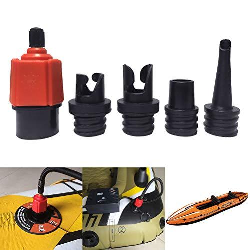 Ventieladapter SUP-adapter met 4 stuks gasmondstuk SUP opblaasbare accessoires luchtpompen converter voor auto padddle board rubberboot zwembad opblaasbaar bed
