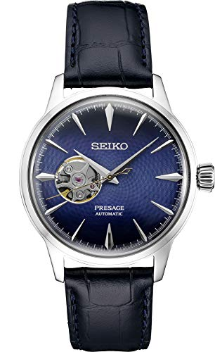 Seiko Presage Automatic Blue Leather Watch SSA405