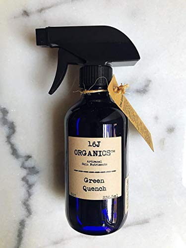 Body Oil Moisturizer, Organic 100% Natural, Anti-Aging, Anti-Wrinkle, Vitamin Antioxidant Rich-Serum, For Skin, Face, Hair, Scalp. Green Quench Is Artisanal - Handmade Of All Food Grade Ingredients