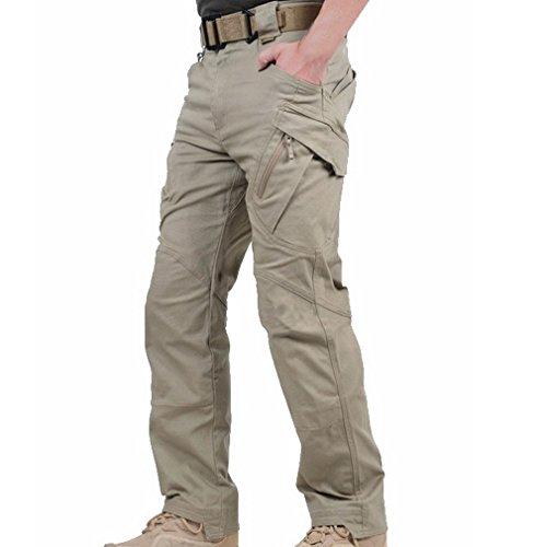 Reebow Gear - Pantalones estilo militar sin cinturón, para hombre, todo el año, hombre, color caqui, tamaño xx-large