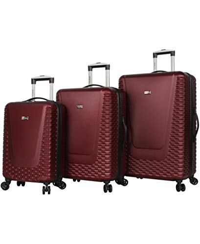 Steve Madden Luggage 3 Piece Hard Case Suitcase Set With Spinner Wheels (Spikes)
