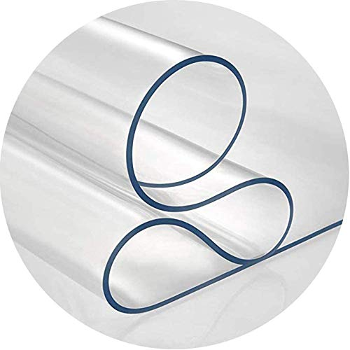 Mantel De Plástico Transparente, Paño De Mesa Protector De Escritorio De Láminas De Plástico De Cristal, Alfombra De Oficina De PVC Alfombra De Escritorio De Oficina Cubier(Size:90x120cm,Color:1.5mm)