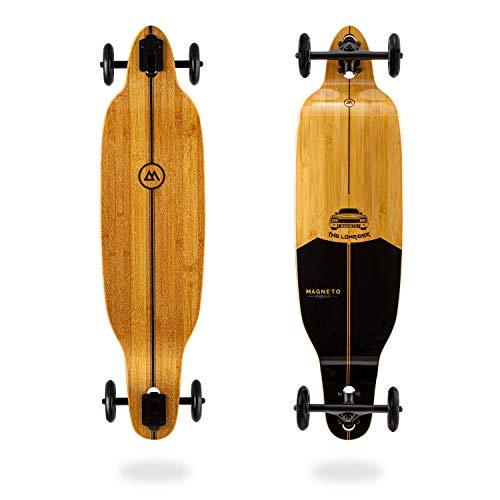 Glider Collection | Longboard-Skateboards | Bambus mit hartem Ahornkern | Große 100 mm Rollen (Low Glider)