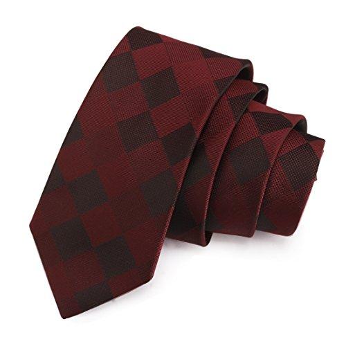 Peluche Nobby Maroon & Black Colored Microfiber Necktie for Men