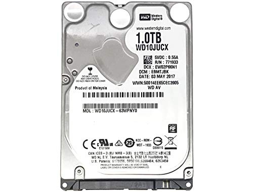 Western Digital 1TB 5400RPM 16MB Cache SATA 6.0Gb/s 2.5inch Hard Drive (for PS4 Game Console HDD Upgrade/Repair)