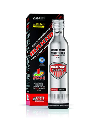 Image of the XADO Engine Oil additive - Protection for Engines - additive for wear Protection & rebuilding of Worn Metal Surfaces - Metal Conditioner w. Revitalizant 1Stage Maximum SUV (up to 10qt of Oil Capacity)