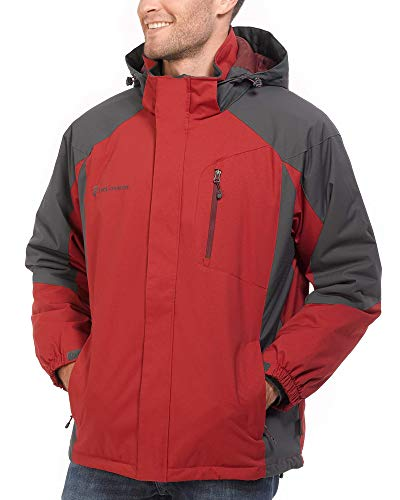 Free Country Men's Granite Quilt Lined Jacket (Dragon Blood, Medium)