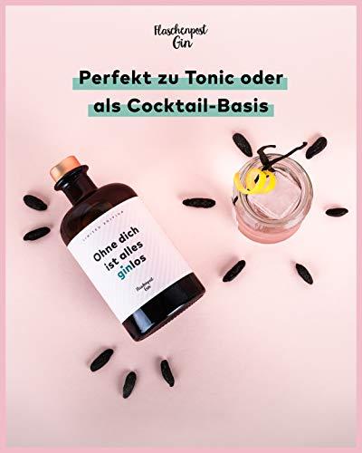 FLASCHENPOST GIN - Ohne dich ist alles ginlos - Love Edition - Handmade Deutscher Premium Gin mit warmen Noten von Vanille und Tonkabohne - 2