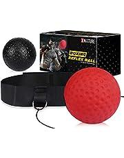 Xnature Bola de Boxeo Reflejo, Bola de Lucha de Reflejo para reacción, Entrenamiento de Boxeo, Velocidad de perforación Adulto/niño