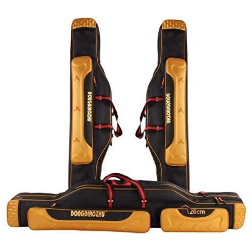 (YXsueh)釣り用ロッドケース 竿バッグ 釣りバッグ ショルダー 釣り道具収納バッグ フィッシングロッドバッグ 手提げ 多機能 大容量 アウトドア 登山 旅行用 (130cm)