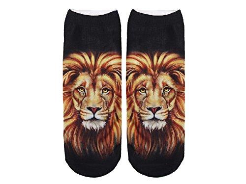 Unbekannt Socken bunt mit lustigen Motiven Print Socken Motivsocken Damen Herren ALSINO, Variante wählen:SO-L069 Löwe