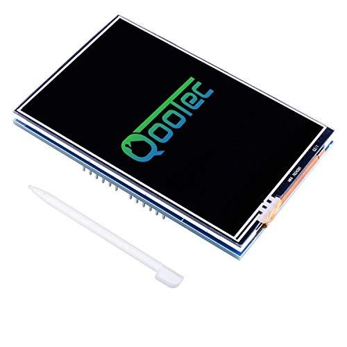 QooTec 3.5' Pantalla Táctil por Arduino LCD con Conector de Tarjeta SD Arduino Display Uno R3 Pen EU025