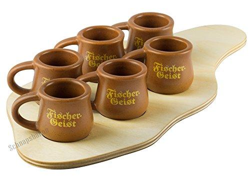 Fischergeist Keramikkrug Set (Keramikkrug, Löschpfanne, Servierbrett)